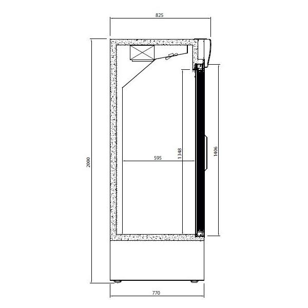 Armario expositor refrigerado 3 puertas correderas - Armario 3 puertas correderas ...