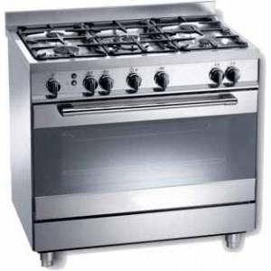 Cocina serie tecno a gas 5 fuegos con horno kingscocinas for Cocina de gas profesional