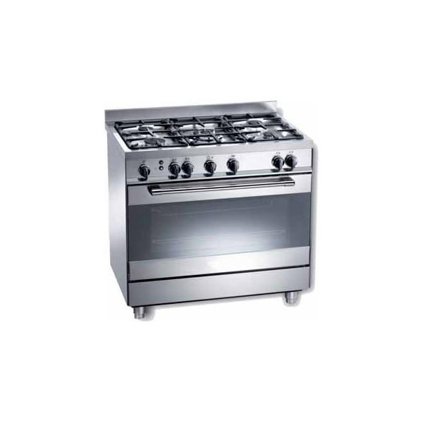 Cocina serie tecno a gas 5 fuegos con horno kingscocinas for Cocina 4 fuegos con horno a gas