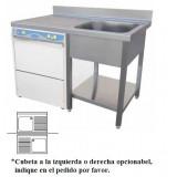 Fregadero Industrial Modelo para Lavavajillas 1200x700mm 1 Cubeta